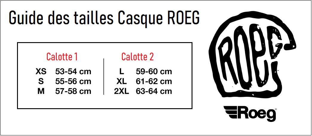 Guide taille Casque Roeg Peruna